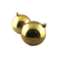 Pack of 4 Shiny Gold Baubles -100 mm