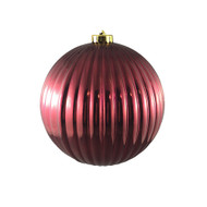 Large Shiny Red Bauble Hanging Ornament - 15cm