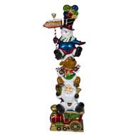 Santa, Moose & Snowman Stack - 185cm