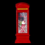 Phone Booth Waterglobe with Santa