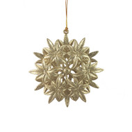 Champagne Star Flower Hanging Ornament - 13 cm