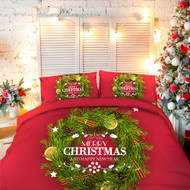 Merry Christmas Doona Cover , Sheets and Pillow Cases