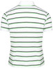 Short Sleeve Pique Striped Polo Shirts-Unisex