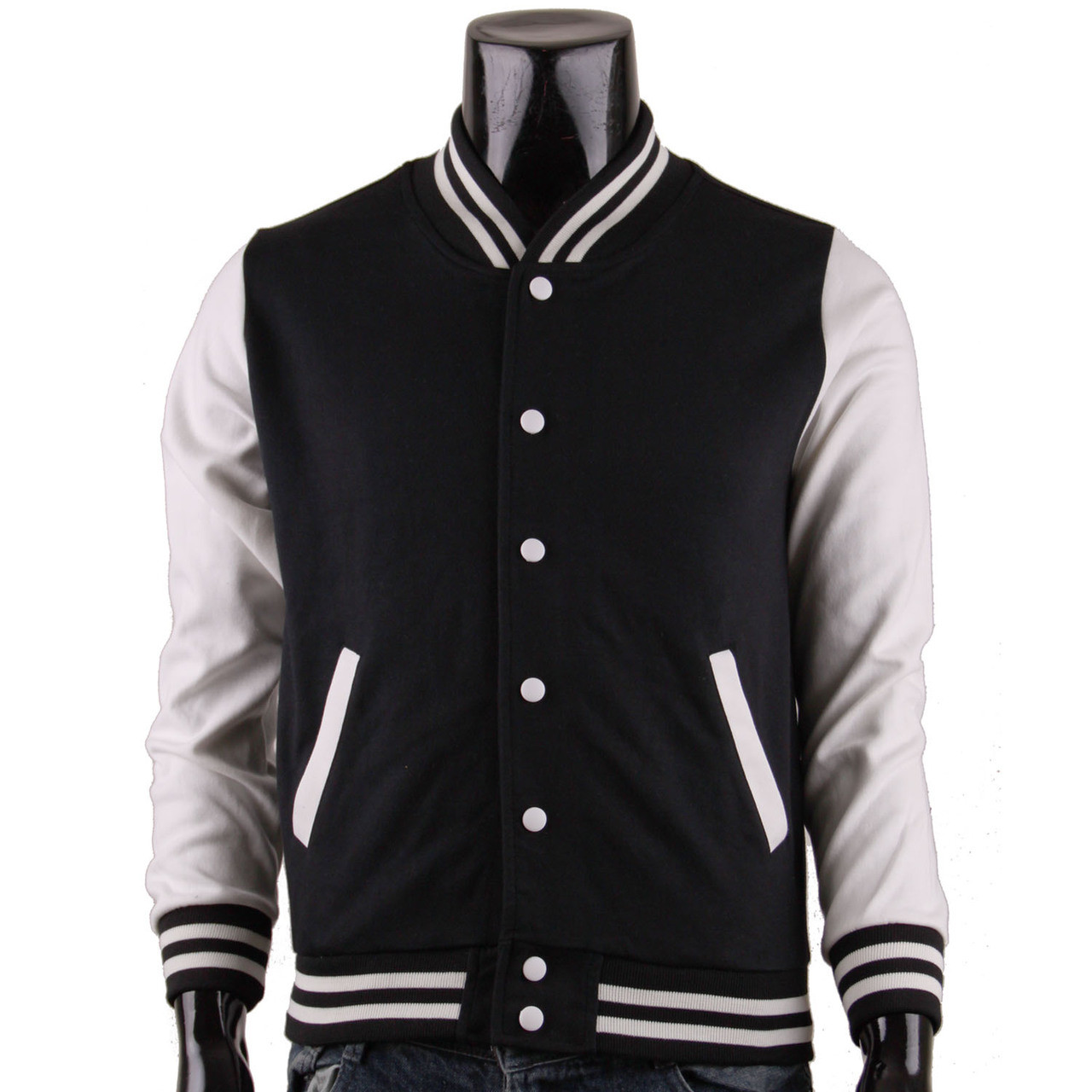 Bcpolo Baseball Jacket Black Cotton Baseball Jacket Varsity Jacket
