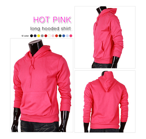 hot-pink hoodie pull-over style hoodie t-shirt