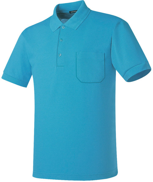Aqua Cotton Pique Polo shirt