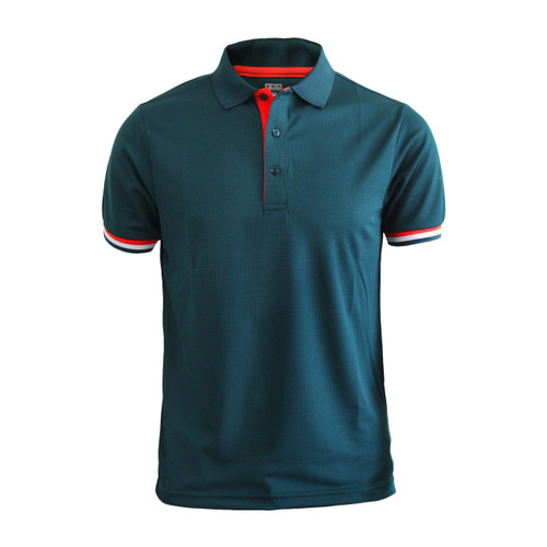 Coolon line point Polo t-shirt, short sleeve-dark_green