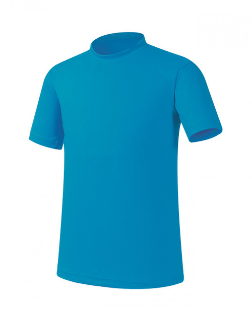 Bcpolo Aqua Round T-Shirt Short sleeves, 100% Cotton Crew Neck Plain Basic T-Shirt
