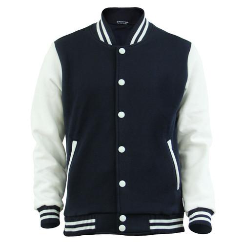 Bcpolo Baseball Jacket Cotton Varsity Jacket Sweatshirt Letterman Jacket