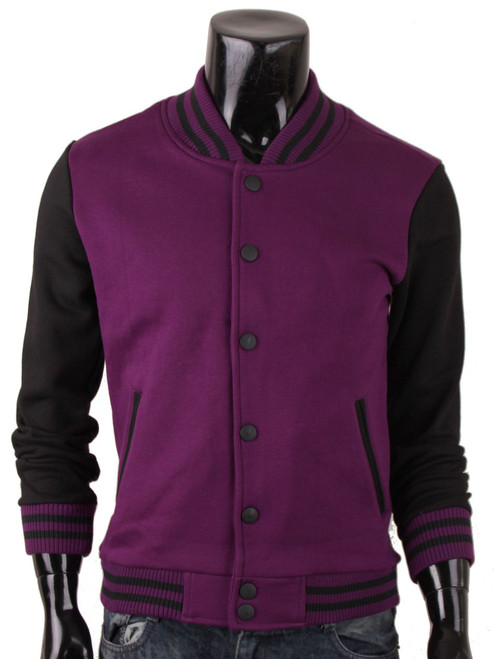 Baseball Jacket Sweatshirt Jacket Varsity Jacket Letterman Jacket Purple College Jacket For your Style Jacket