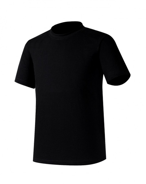 Bcpolo Black Round T-shirt short sleeves Crew Neck Cotton Unisex T-Shirt