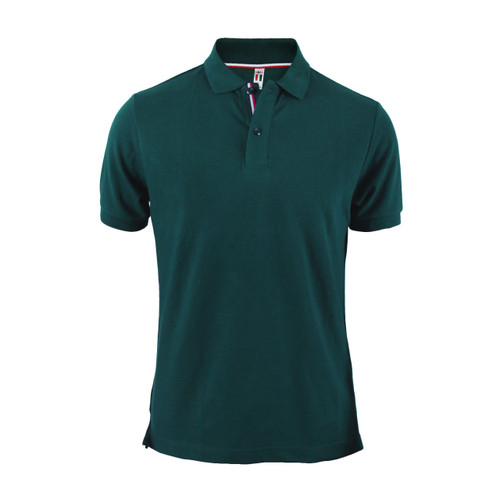 Men's Polo Shirt Green Polo Shirt Cotton Polo Shirt Short Sleeves Shirt