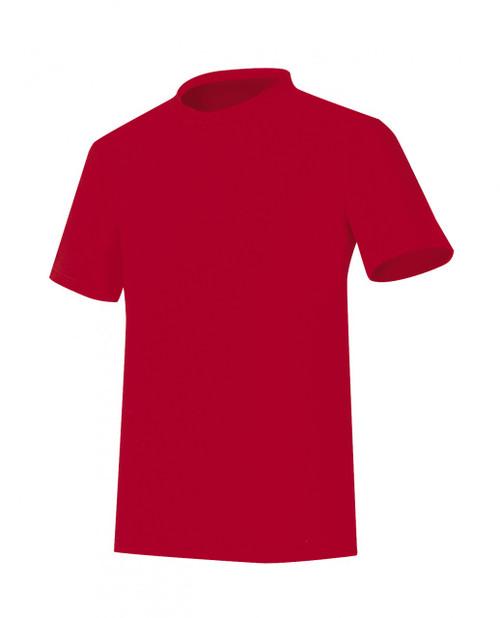 Bcpolo Round T-shirt Red Cotton Shirt short sleeves Crew Neck Plain T-shirt