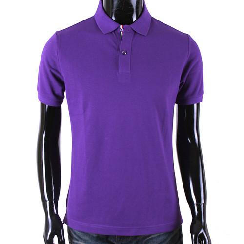 BCPOLO Men's Polo Shirt Purple Polo Shirt Short Sleeves Shirt Cotton Polo Shirt