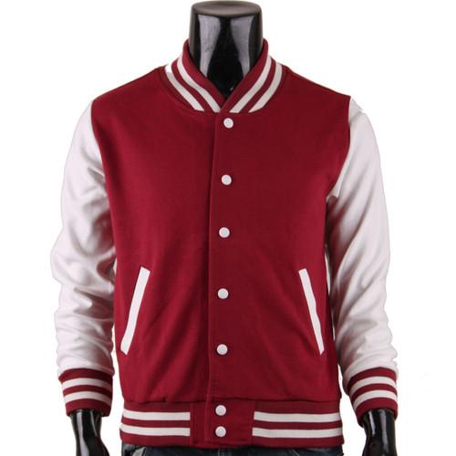 BCPOLO Men's Brown Baseball Jacket Varsity Jacket Letterman Jacket