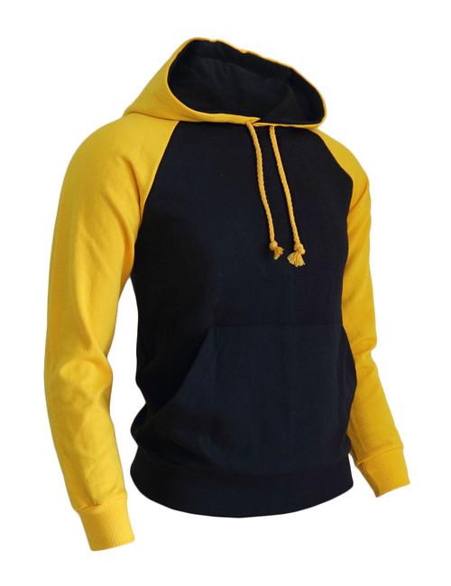 BCPOLO Casual Men Hoodie t- shirt 2 tone Raglan hoodie t-shirt (navy)
