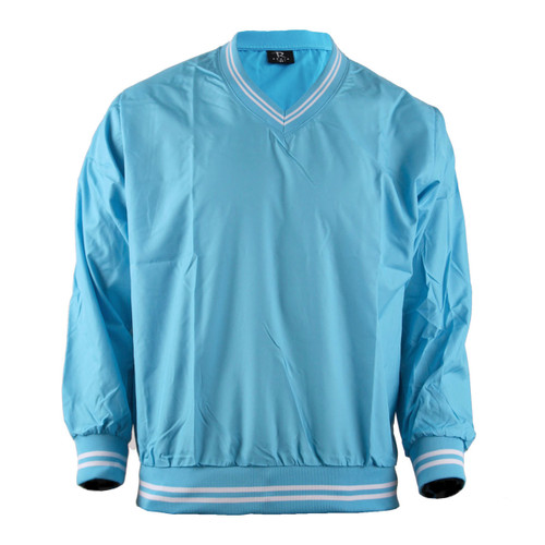 BCPOLO Aqua Windbreaker Pull Over V-Neck Long Sleeve