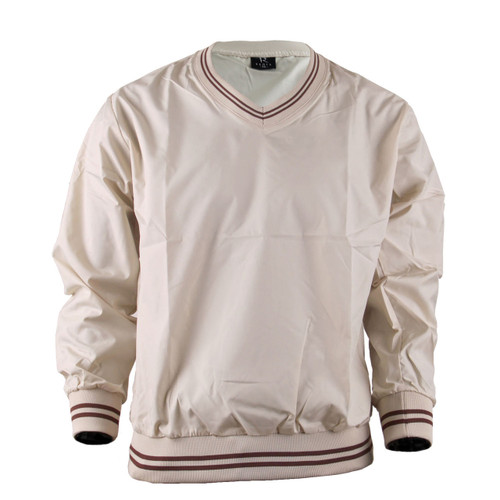 BCPOLO Beige Windbreaker Pull Over V-Neck Long Sleeve