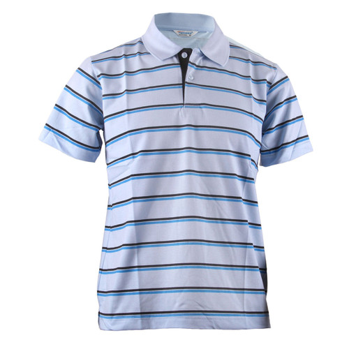 BCPOLO BLUE STRIPED CASUALl LIGHT SKY BLUE SHIRT SHORT SLEEVES POLO SHIRT