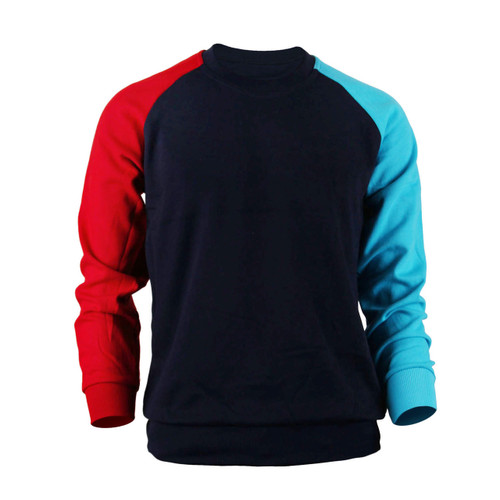 Casual Raglan Crew Neck Long Sleeve T-Shirt_Black
