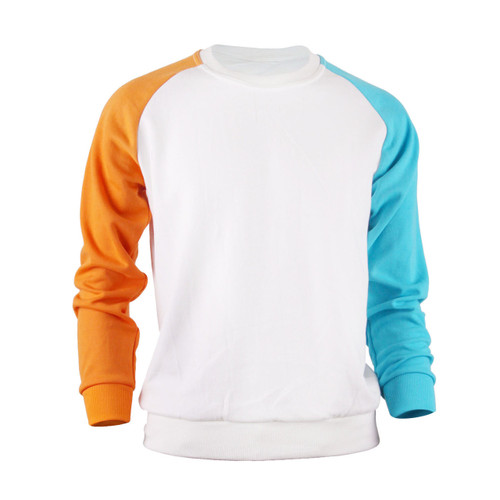 Casual Raglan Crew Neck Long Sleeve T-Shirt_White