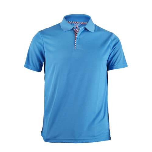 BCPOLO BASIC SHORT SLEEVE BLUE SHIRT CASUAL POLO SHIRT
