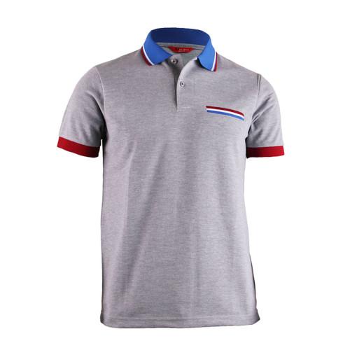 BCPOLO Sportswear Solid Grey Polo Shirt Short Seeve Golfwear