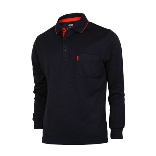 Bcpolo Man's Long Sleeve Polo Shirt_Black