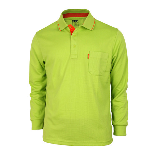 Bcpolo Man's Long Sleeve Polo Shirt_Green