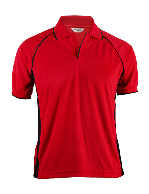 NEW POLO SHORT SLEEVES SHIRT 4 COLOR/RED