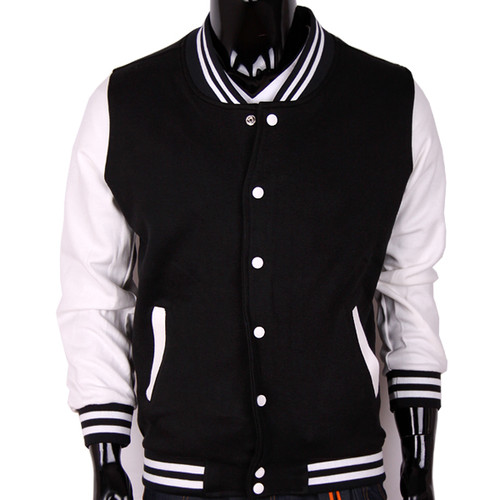 Bcpolo Baseball Jacket Black Cotton Baseball Jacket Varsity Jacket for your style