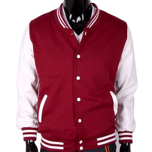 Bcpolo Baseball Jacket Wine Cotton Baseball Jacket Varsity Cotton Baseball Jacket for your style