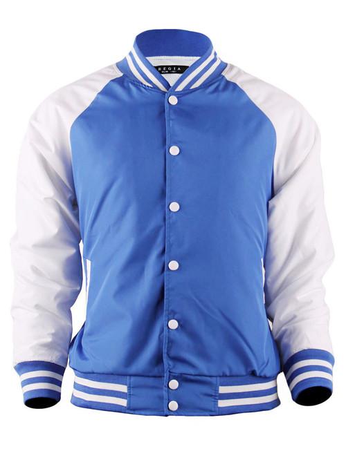 BCPOLO Varsity Baseball Jacket Lightweight Jacket_BLUE