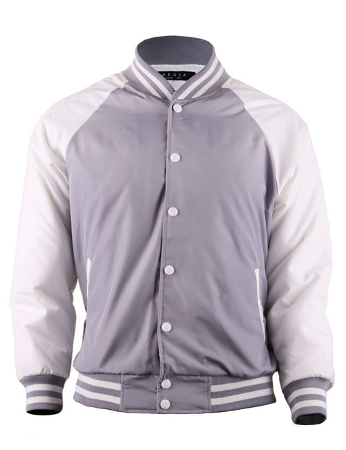 BCPOLO Varsity Baseball Jacket Lightweight Jacket_GREY