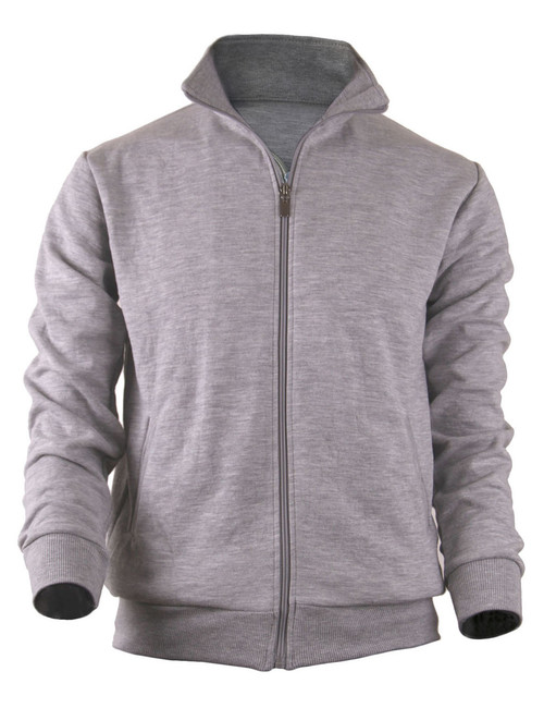 BCPOLO Cotton Jersey Full Zip Cotton Grey Jacket