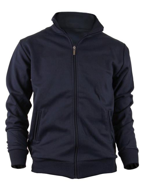 BCPOLO Cotton Jersey Full Zip Cotton Navy Jacket