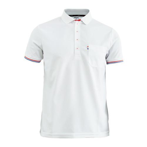 BCPOLO New Summer Golf Wear Short Sleeve Polo Shirt_ WHITE