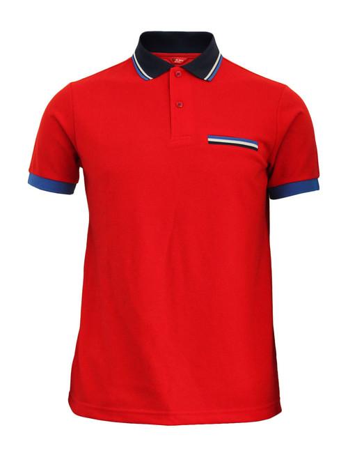 BCPOLO Sportswear Solid Red Polo Shirt Short Seeve Golfwear