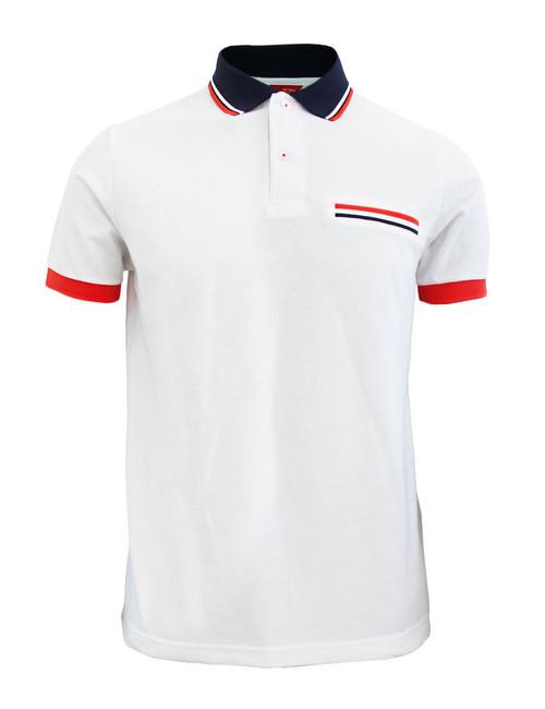 BCPOLO Sportswear Solid White Polo Shirt Short Seeve Golfwear