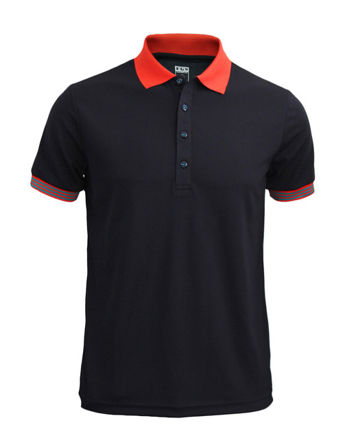 Casual Short Sleeve Shirt Golf wear Polo Shirt Reqular Fit Shirt / BLACK