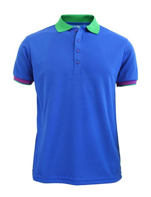 Casual Short Sleeve Shirt Golf wear Polo Shirt Reqular Fit Shirt / BLUE