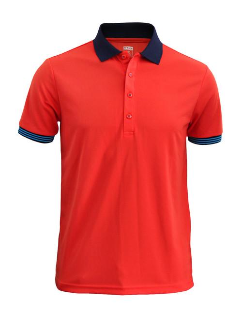 Casual Short Sleeve Shirt Golf wear Polo Shirt Reqular Fit Shirt / SCARLET