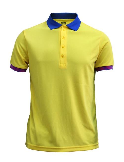 Casual Short Sleeve Shirt Golf wear Polo Shirt Reqular Fit Shirt / YELLOW