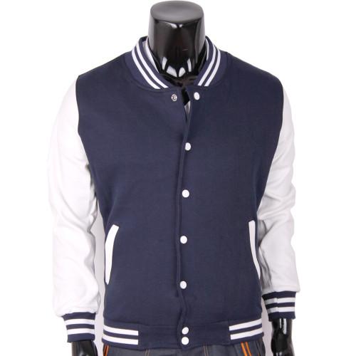 Bcpolo Baseball Jacket Varsity Jacket Cotton Jacket Navy Baseball Jacket