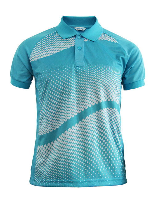 Graphics Design Polo Shirt Sky blue Golfwear Short Sleeve Summer Shirt