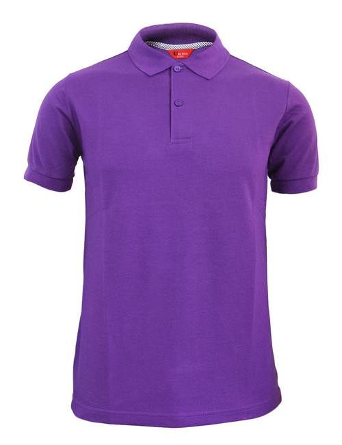 CASUAL SHORT SLEEVE POLO SHIRT BASIC GOLF WEAR/ PURPLE