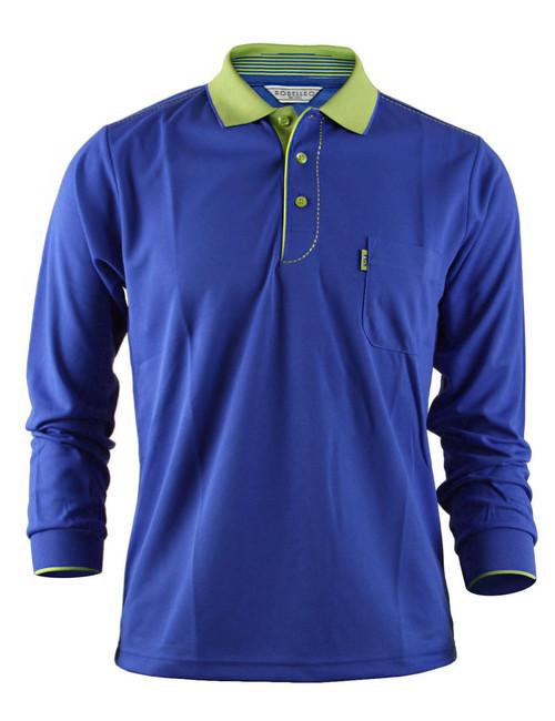 Casual Coolon ATB-UV+ PK Polo t-shirt, long sleeve sportswear t-shirt-blue