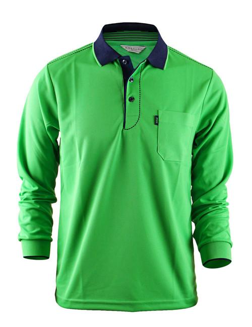 Casual Coolon ATB-UV+ PK Polo t-shirt, long sleeve sportswear t-shirt-green