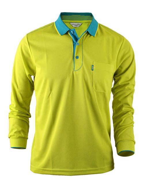 Casual Coolon ATB-UV+ PK Polo t-shirt, long sleeve sportswear t-shirt-light green