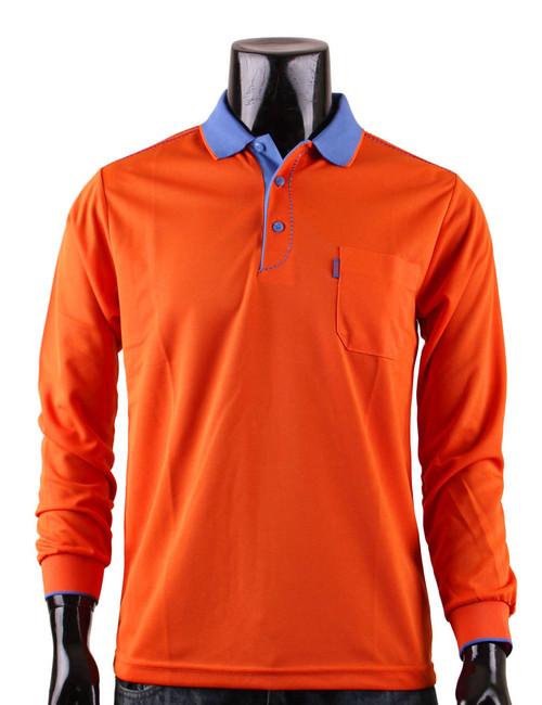 Casual Coolon ATB-UV+ PK Polo t-shirt, long sleeve sportswear t-shirt-orange